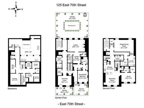 new york townhouse floor plans 125 e 70th st mellon house 40 width new york ny