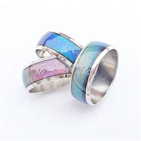 Mm Mood mood ring changing colors by emotion feeling 16 20 mm ebay
