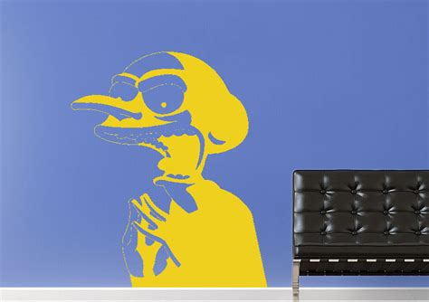 simpsons wall stickers the simpsons mr burns wall stickers adhesive wall sticker