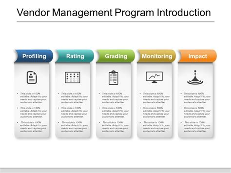 vendor management program template 25322880 style layered horizontal 5 powerpoint
