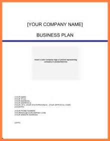 5 exles of business plan cover page bussines