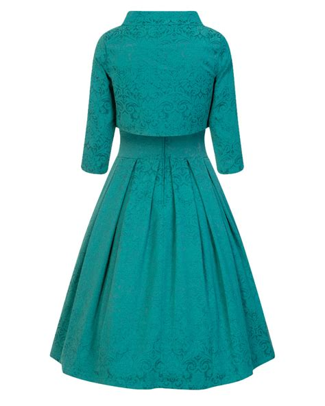 teal swing dress marianne teal swing dress and jacket twin set vintage