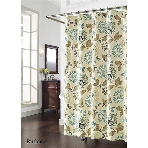 shower curtain blue and brown pinterest