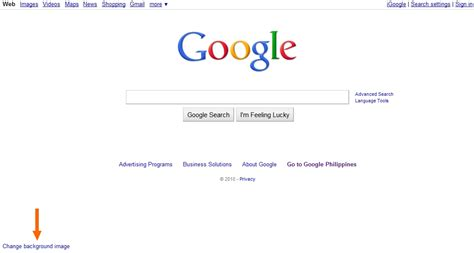 wallpaper for my google homepage change google homepage background how to