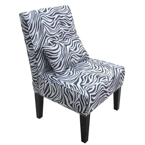 Zebra Accent Chair Innovex Collection Accent Chair With Optional Pillows Zebra Print 8007 3