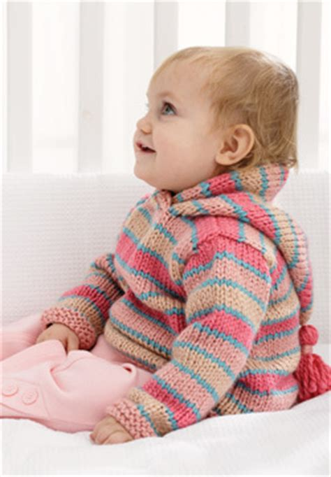 chunky hoodie baby sweater knitting pattern favecraftscom