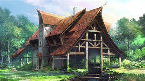 sculpture house paintings fantasy art artwork house wallpaper 1600x900 335049 wallpaperup