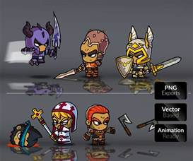royalty free 2d game art role playing games character