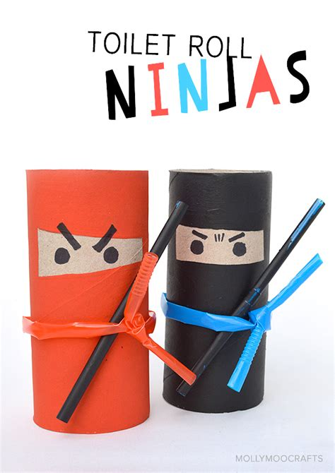 Paper Craft For Boys - mollymoocrafts crafts for toilet roll ninjas