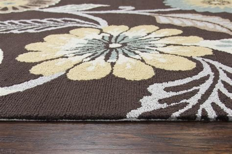 2 X 8 Runner Rugs Azzura Hill Modern Floral Runner Rug In Espresso Multi Color 2 6 Quot X 8