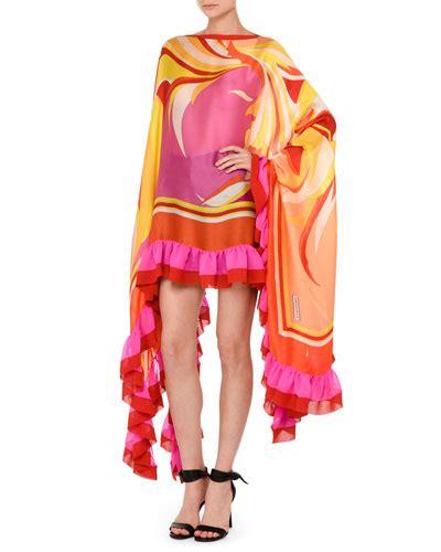 Orange Wave Shift Dress Sml emilio pucci apparel dresses skirts at neiman