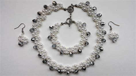 into jewelry transform a simple pearl jewelry set into and