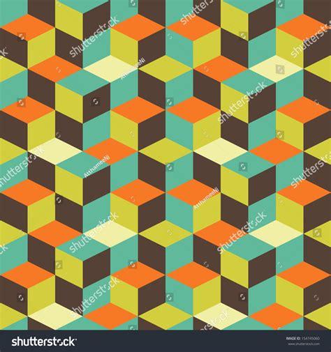 vintage geometric pattern abstract retro geometric pattern design stock vector