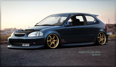 Jdm Hondas by Hectoralejos Honda Civic Hatchback Ek Wallpaper Images