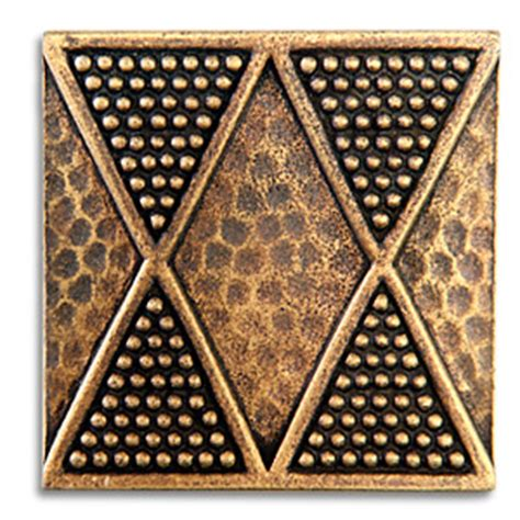 2x2 Metal Accent Tiles by Yoruba 2x2 Inch Pewter Tile Aged Brass Metal Tile Accent