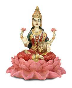 Lotus Lakshmi Lakshmi On Lotus Goddess Of Wealth Statue
