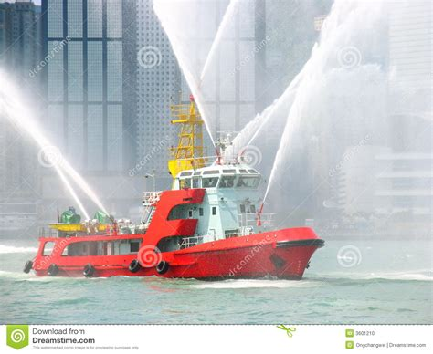 fire boat hong kong fireboat in hong kong city stock photo image 3601210