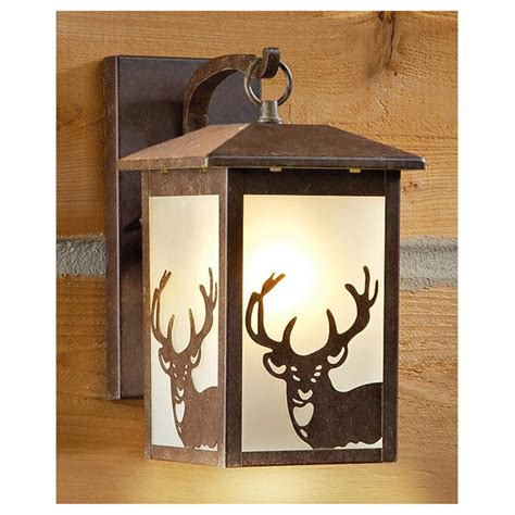 rustic outdoor wall lights castlecreek rustic outdoor wall lantern 225944 solar