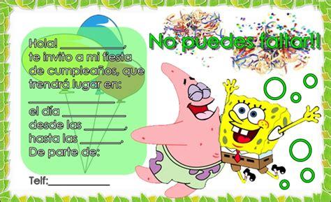 imagenes de feliz cumpleaños bob esponja tarjetas de cumplea 241 os de bob esponja para imprimir