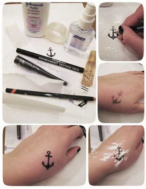 how to give yourself a tattoo with pen ink tattoos but don t want to get inked try these
