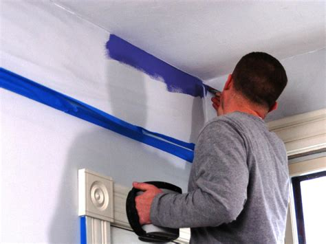 Cutting In A Ceiling by How To Paint A Room How Tos Diy