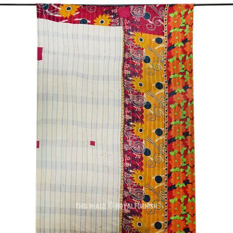 Sari Patchwork Quilt - vintage sari patchwork layered reversible kantha quilt
