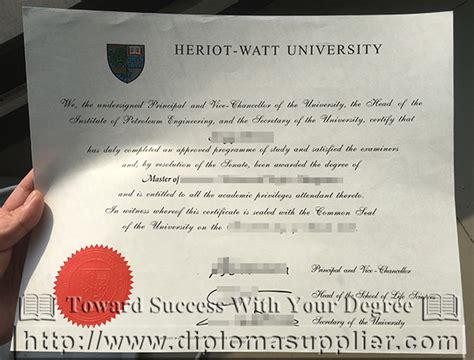 Heriot Watt Scotland Mba by Heriot Watt Diploma For Sale