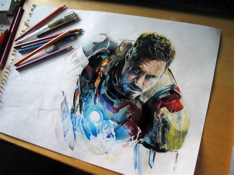 iron man color pencil drawing by andrea image preview
