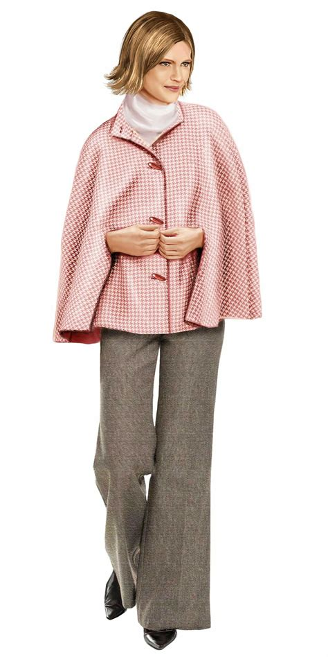 pattern stand up collar poncho with stand up collar sewing pattern 5730 made