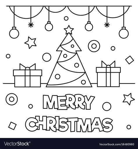 merry coloring pages merry coloring page royalty free vector image