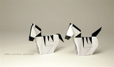 Origami Zebra - origami safari 26 beautiful animals made out of paper