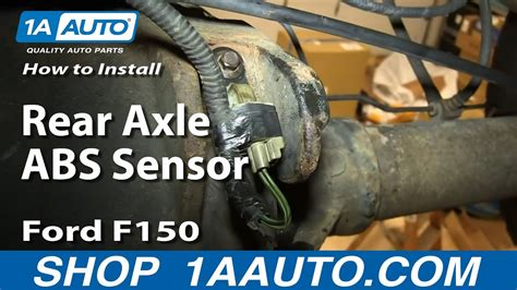 replace rear axle abs sensor ford  youtube