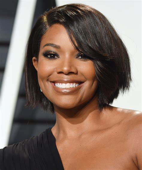 gabrielle union hairstyles gabrielle union just chopped hair into the bob we all