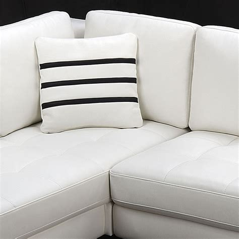 L Shaped White Leather Sofa Contemporary White L Shaped Leather Sectional Sofa Modern