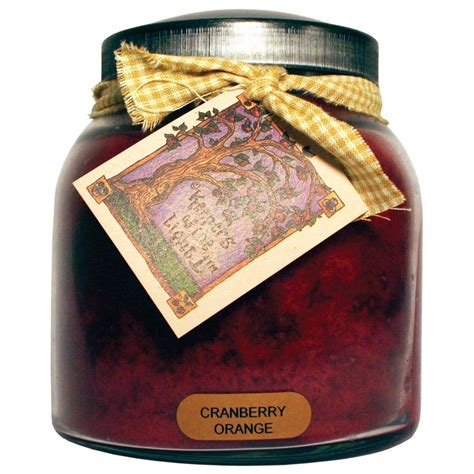 keepers of the light candles keepers of the light cranberry orange glass candle jp77