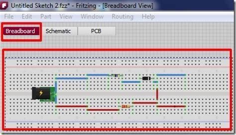 breadboard circuit design software free fritzing free tool to design circuit on breadboard layout and pcb