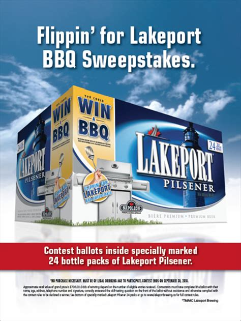 Sweepstakes Advertising - rossi piedimonte lakeport brewing