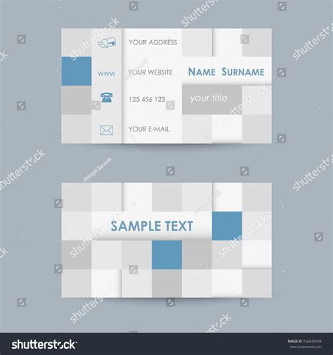 cube business card template modern business card template cube theme stock vector