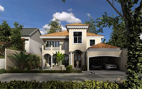 modern mediterranean house cgarchitect professional 3d architectural visualization