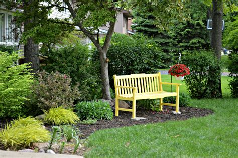front yard bench a yellow bench for the front yard laughing abi
