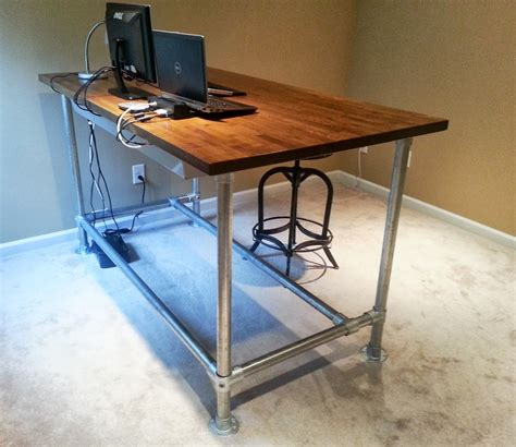 Pipe Standing Desk by 37 Diy Standing Desks Built With Pipe And Kee Kl