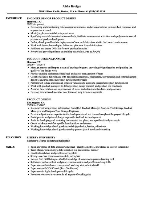 product design resume sles velvet