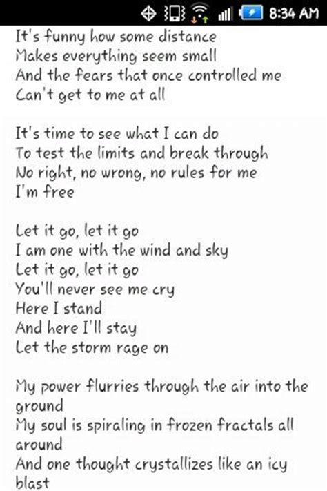 printable lyrics let it go let it go lyrics let it go and girls on pinterest