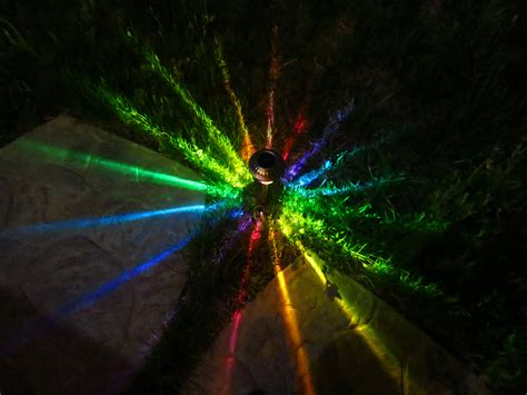 Colored Landscape Lights New Solar Rainbow Path Lights Lasersandlights