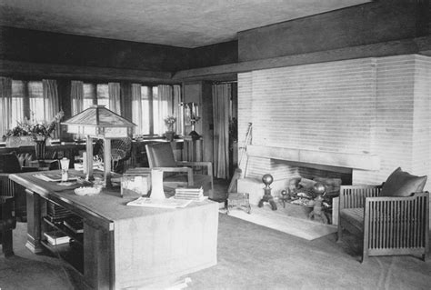 Interior Of Homes 1918 Fireplace Growing Up In A Frank Lloyd Wright