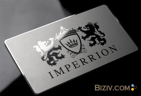 mirror business card template stainless steel business cards mirror metal business cards