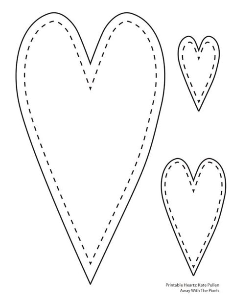 heart pattern free printable 6 free printable heart templates heart template heart