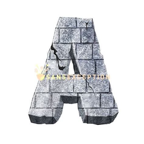 letter initial a castle wall ultra realistic letters