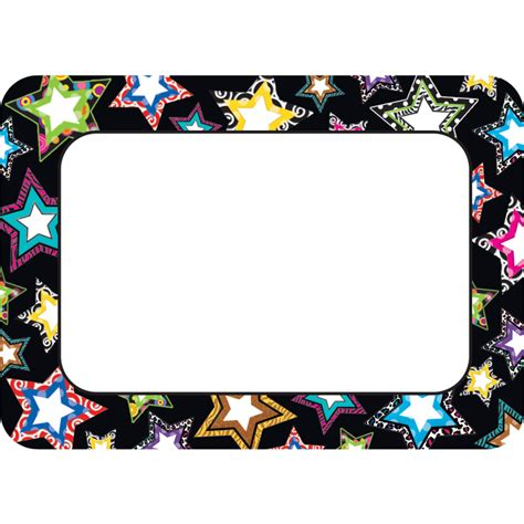 decorative borders for name tags fancy stars name tags labels tcr5260 teacher created