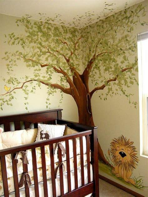 babyzimmer wandgestaltung malen kinderzimmer wandgestaltung baum selber malen www